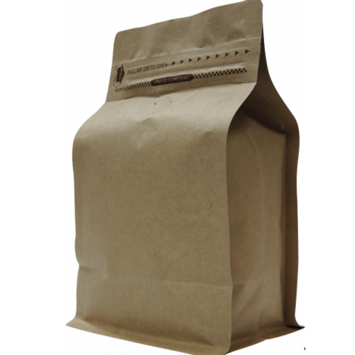 250g bags box bottom Kraft+zip - doos 500st.