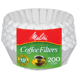 Melitta Melitta 8-12 Cup Basket Filter Paper White - 200 Count
