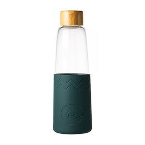 SOL Sol - deep sea green  glazen fles (incl reinigingsborstel en tas)