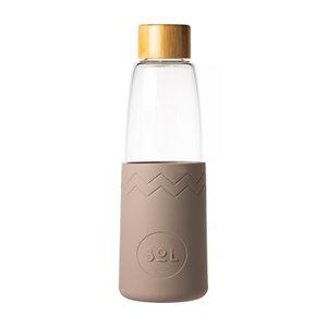 SOL Sol - seaside slate glazen fles incl reinigingsborstel en reistas