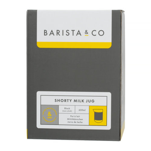 Barista & Co Barista & Co - Shorty Milk Jug Black - 600 ml