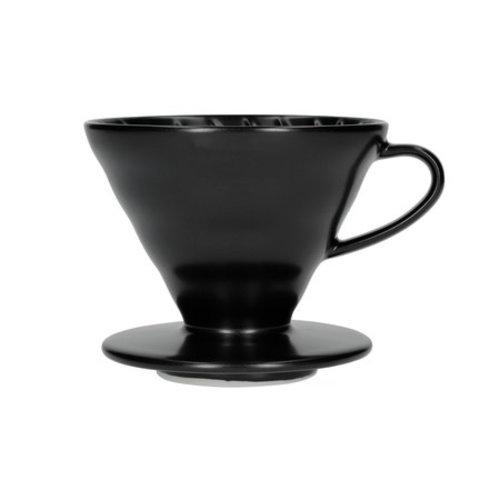 Hario Hario V60-02 Porseleinen koffiefilterhouder mat zwart