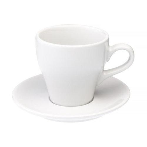 Loveramics Loveramics Tulip - kop en schotel - Cafe Latte 280 ml - Wit