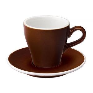 Loveramics Loveramics Tulip - kop en schotel Cappuccino 180 ml - Bruin