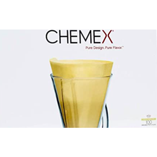 Chemex CHEMEX® BONDED FILTERS UNFOLDED HALF MOON (NATURAL) 3 cups