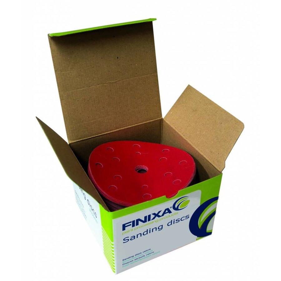 Schuurschijf rond 150mm  doos  100st rood t/m p800-1