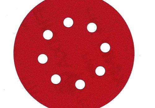 Finixa Schuurschijf rond 125mm  doos100st rood