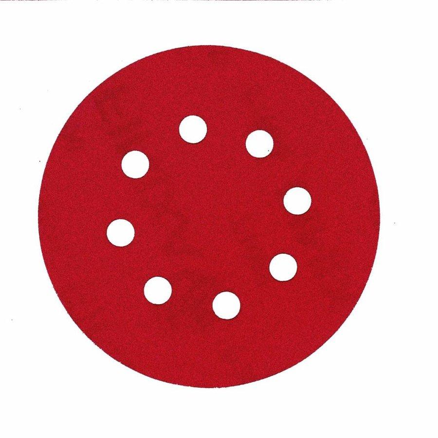 Schuurschijf rond 125mm  doos  100st rood-1