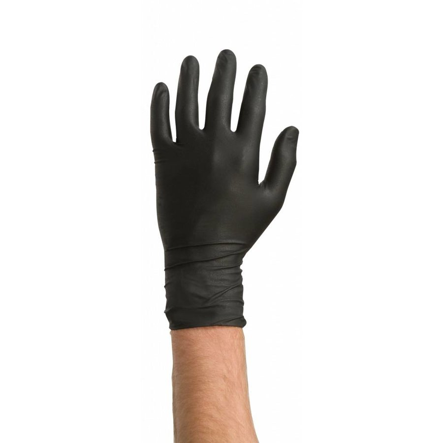Nitrile handschoenen 60st zwart-1