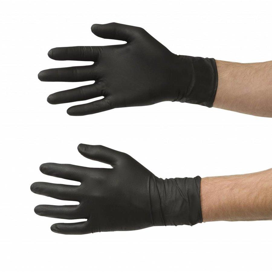 Nitrile handschoenen 60st zwart-2