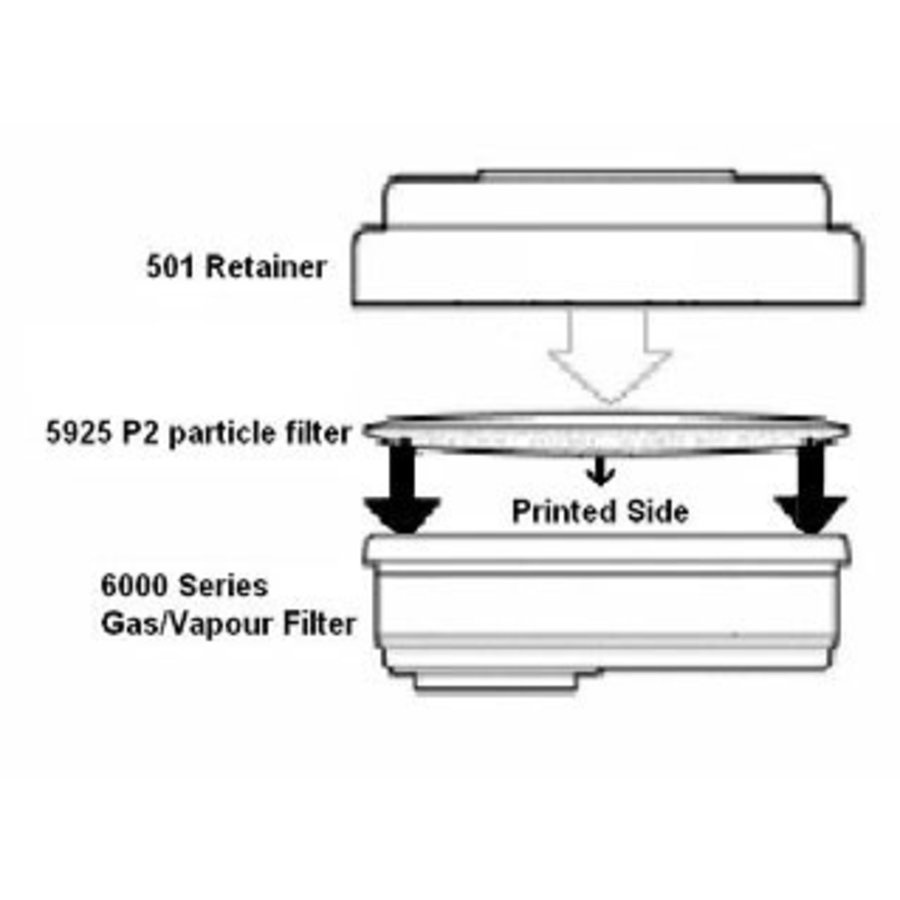 Filterkapset tbv 3M masker 7500-2