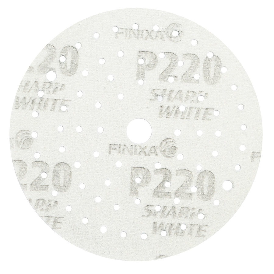 Schuurschijf rond 150mm  doos  100st wit t/m p800-3