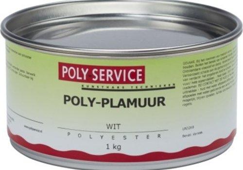Polyservice POLY PLAMUUR WIT 1 kg