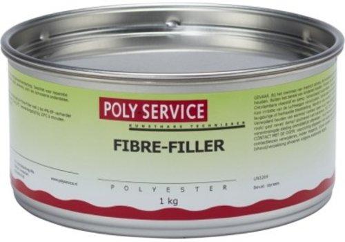 Polyservice FIBRE-FILLER (vezelplamuur) 1kg