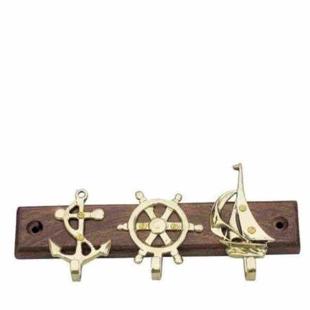 Sleutelrek - Anker, Zeilboot, Stuurwiel