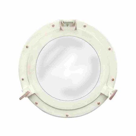 Spiegel - Patrijspoort - Ivoorwit - Ø 28,5 cm