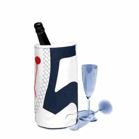 - Wijnkoeler - Wit/Navy