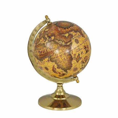 Globe - Messing - Gelakt - Ø 15 cm