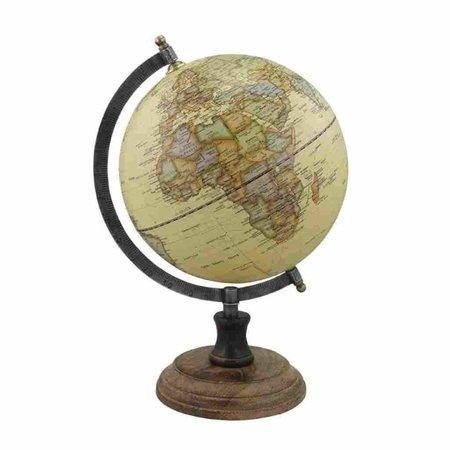 Globe - Messing & Hout- Créme -Ø 20 cm