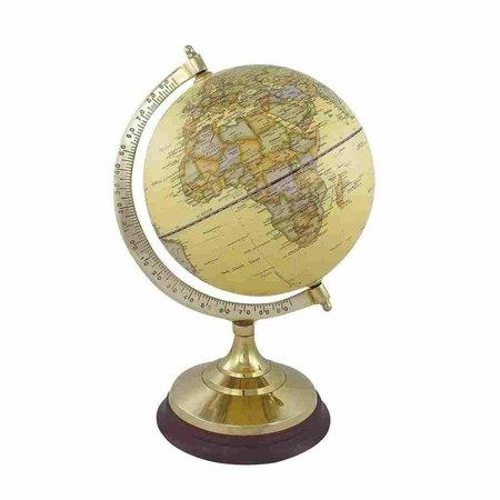 Globe - Messing & Hout - Créme -Ø 20 cm