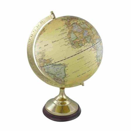 Globe - Messing & Hout - Créme -Ø 30 cm