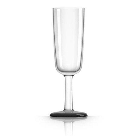 - Champagneglas - Zwart