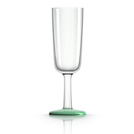 - Champagneglas - Groen - Glow in the Dark