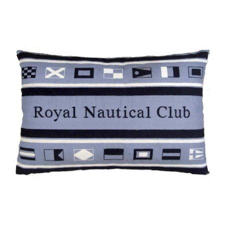 - Nautisch kussen Sign Flags Club Blue