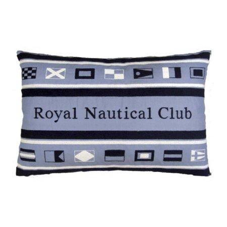 - Nautisch kussen Sign Flags Club Blue