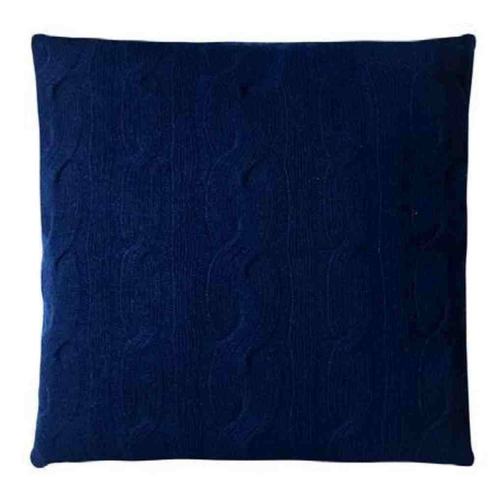 - Knitted Cables - Kussen - Navy - 50 x 50 cm