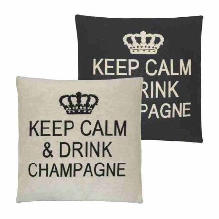 - Keep Calm - Champagne - Grey - Set van 2