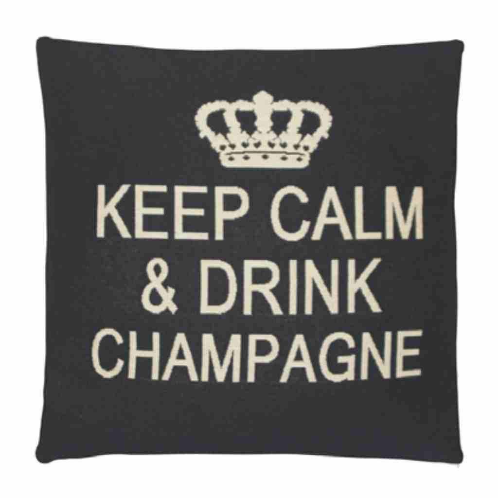 - Keep Calm - Champagne -Grey - Set van 2 - 45 x 45 cm