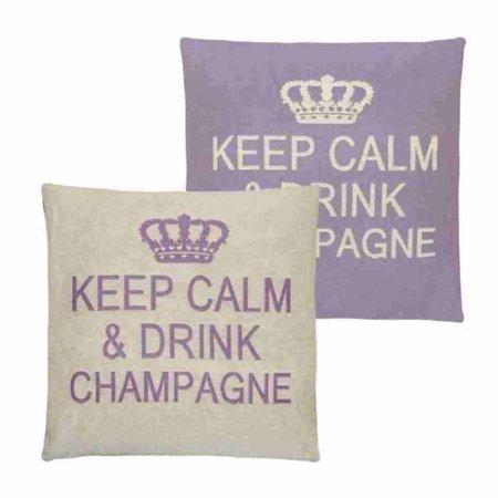 - Keep Calm - Champagne - Lilac - Set van 2
