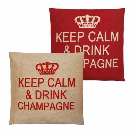 - Keep Calm - Champagne - Red - Set van 2
