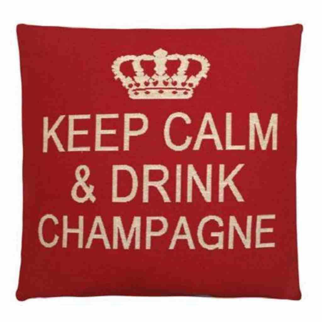 - Keep Calm - Champagne - Red - Set van 2 - 45 x 45 cm