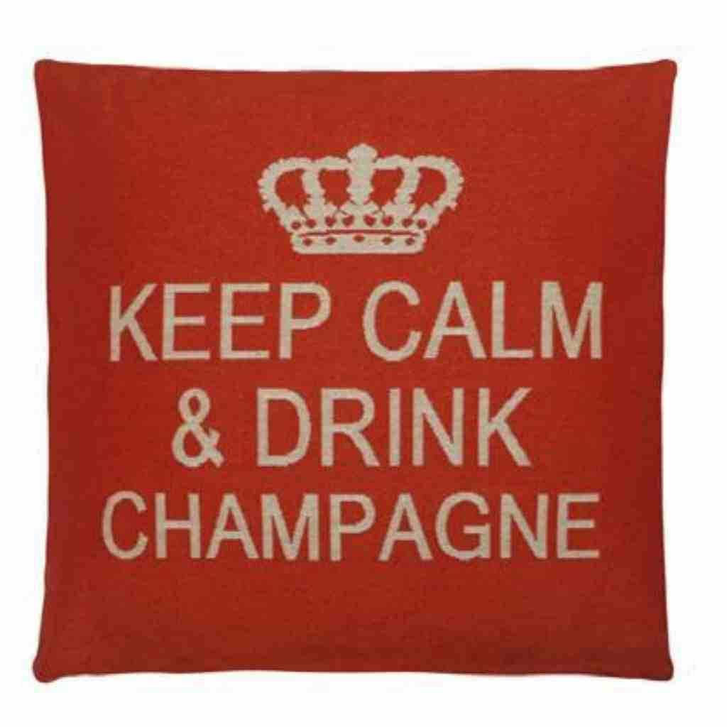 - Keep Calm - Champagne - Orange - Set van 2 - 45 x 45 cm
