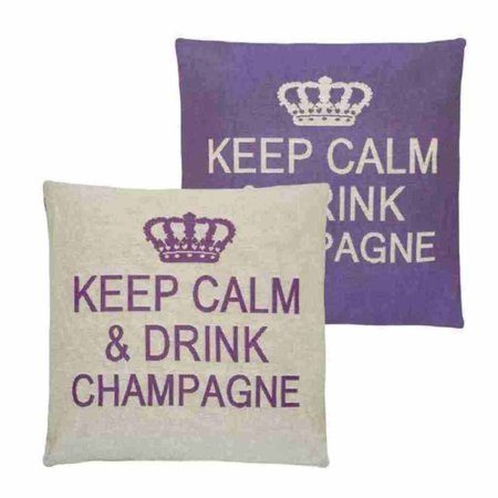- Keep Calm - Champagne - Purple - Set van 2