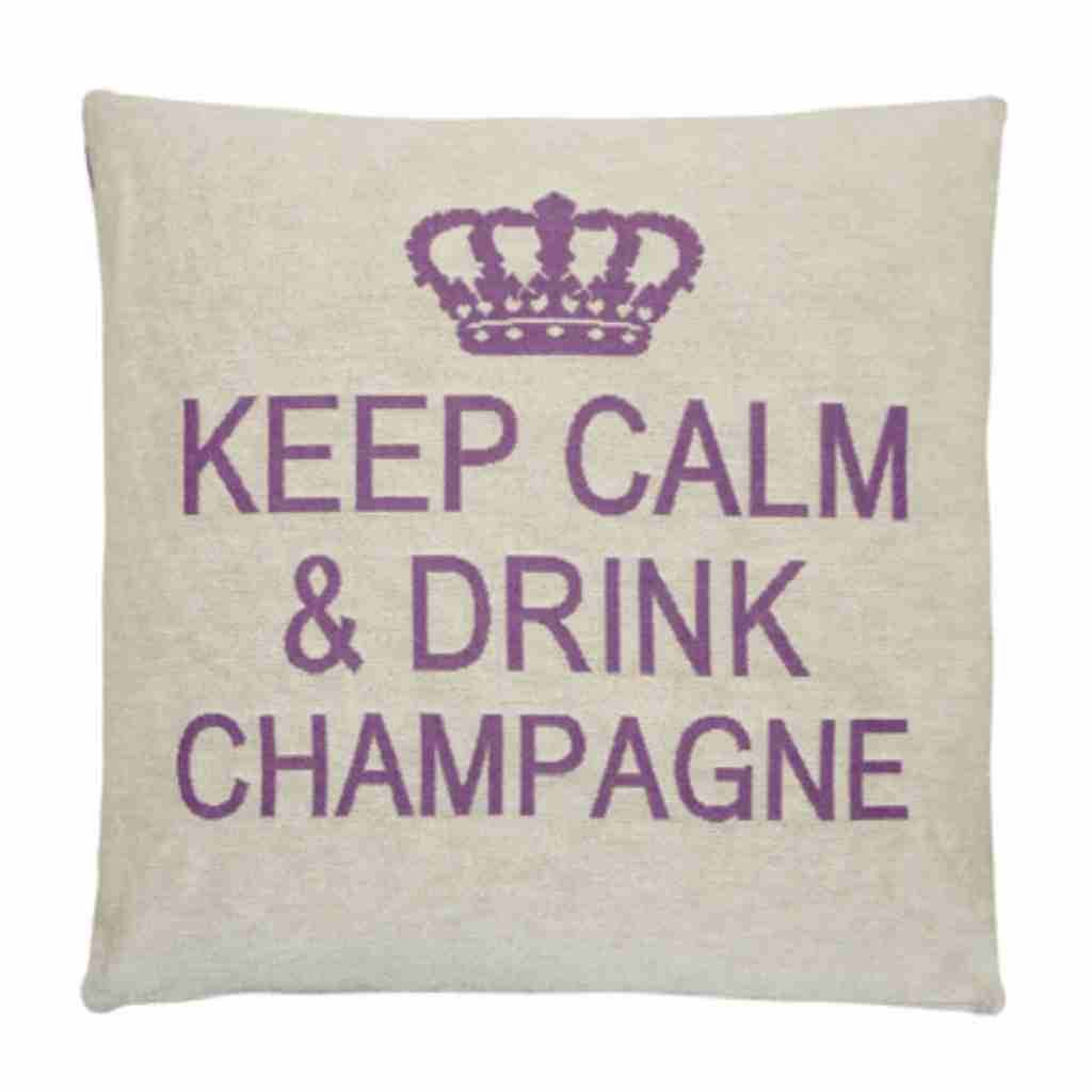 - Keep Calm - Champagne - Purple - Set van 2 - 45 x 45 cm