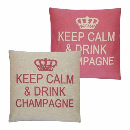 - Keep Calm - Champagne - Pink - Set van 2