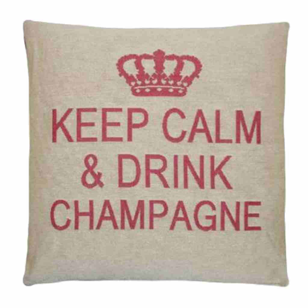 - Keep Calm - Champagne - Pink - Set van 2 - 45 x 45 cm