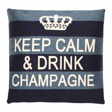 - Keep Calm - Champagne - Blue Stripe
