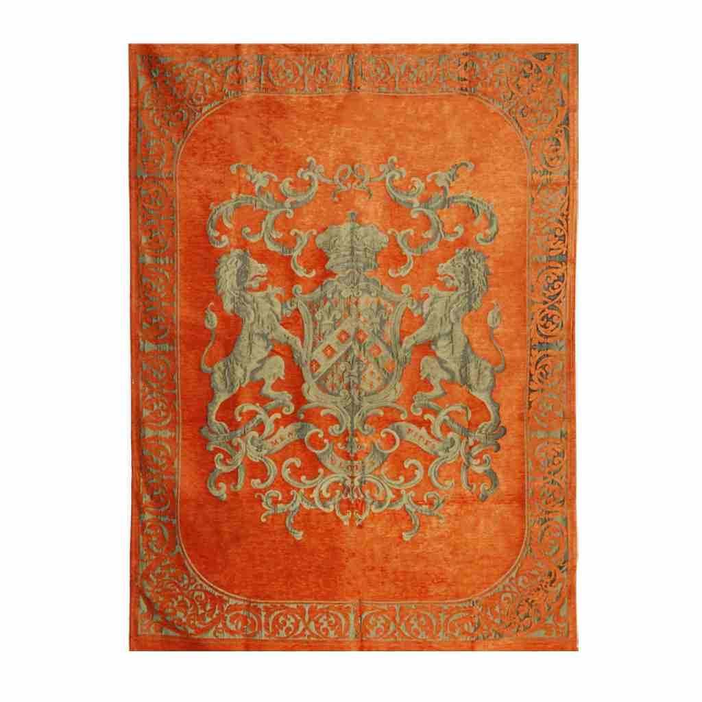- Fiori - Plaid - Orange - 175 x 235 cm