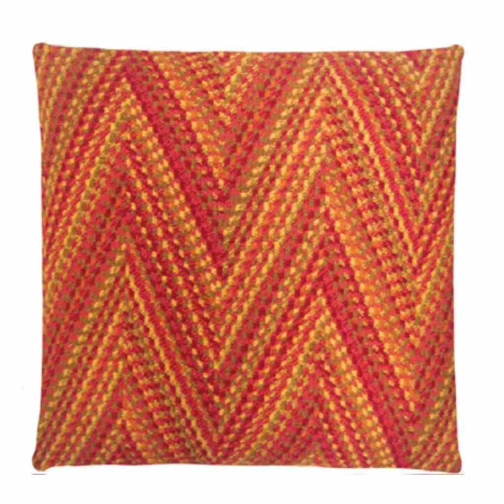 - Missy - Orange - stripe - Set van 2 - 45 x 45 cm