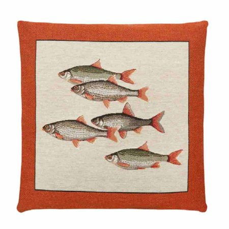 - Ocean life - Kussen - Orange - Vissen - Set van 3