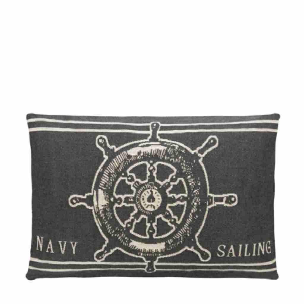 - Nauticals Kussens - Dark Grey - Set van 4 - 33 x 45 cm