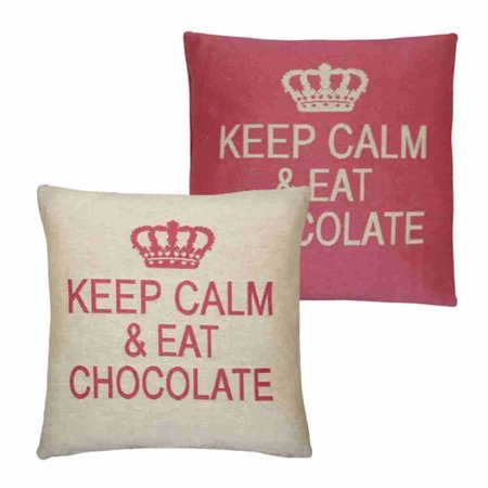 - Keep Calm - Chocolate - Pink - Set van 2
