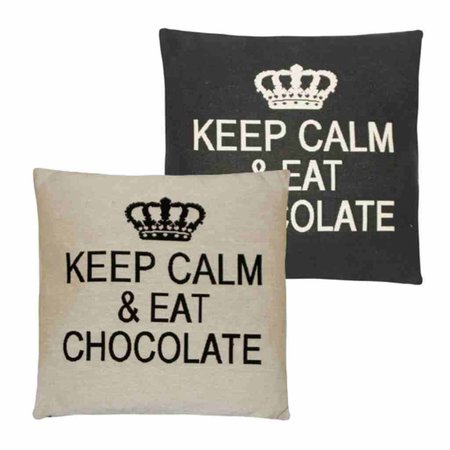 - Keep Calm - Chocolate - Grey - Set van 2