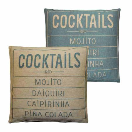 - Cocktails - Kussen -  Aqua - Set van 2