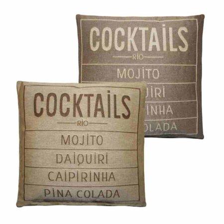 - Cocktails - Kussen -  Sand - Set van 2
