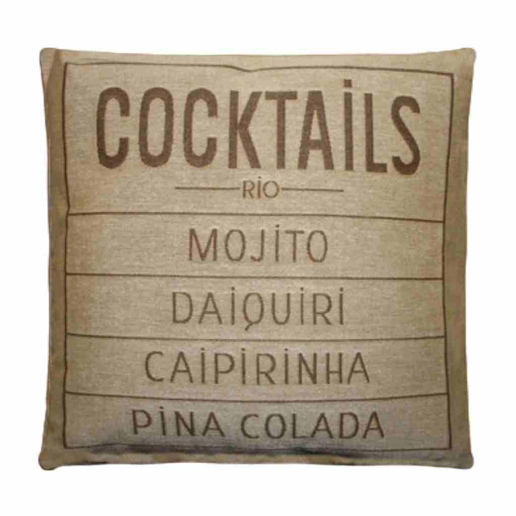 - Cocktails - Kussen -  Sand - Set van 2 - 45 x 45 cm